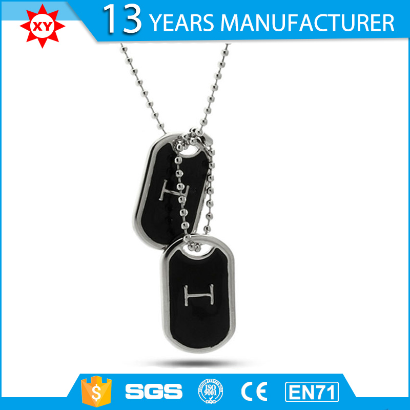 wholesale custom double dog tag with chain
