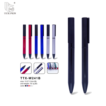 China TTX-W018 Hight quality promotional pens ballpoint famous brands with logo print metal