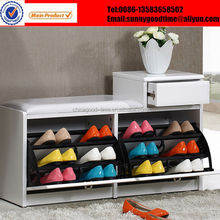 Shoe stool shoe rack with drawer