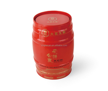 Red small metal bucket tin box for tea