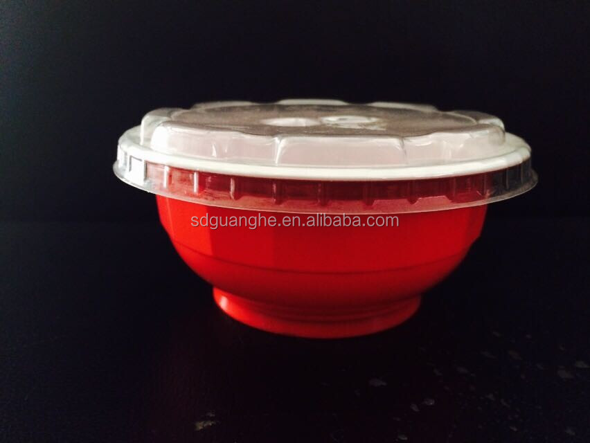 320ml disposable plastic rice pudding red bowl