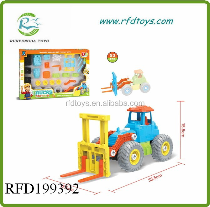 Diy model car toys for kids assemble truck intelligent diy toy