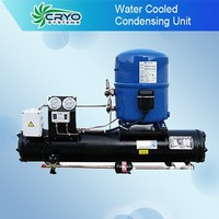 Water cooled refrigeration compressor condensing unit