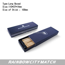 Blue head cigar match in lion printing box, adverting safety matches