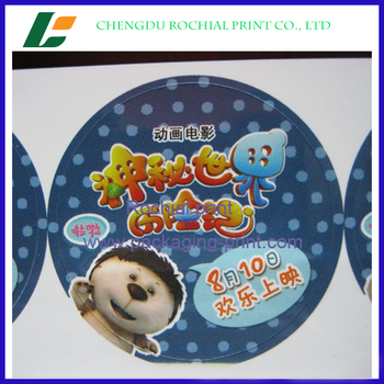 Best price adhesive Round Stickers Custom Logo service