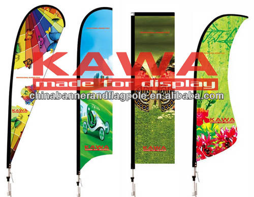 Advertising banner stand promotional beach flag 2014 brazil world cup