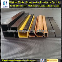 fibreglass extruded tube with hollow square