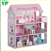 Pretend play wooden toy furniture miniature for doll house
