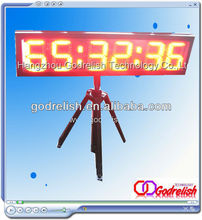 Hot selling led wood clock with low price