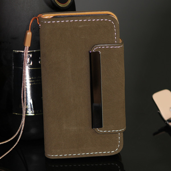 China alibaba supplier manufactuer wholsesale New luxury depatchable leather wallet case for iphone 5 5s
