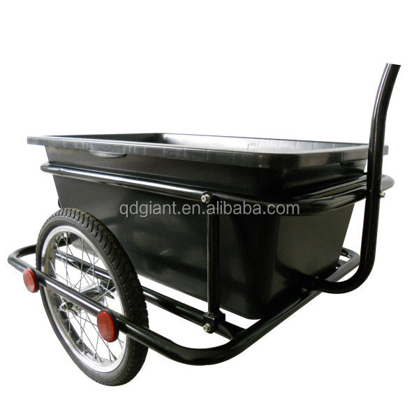 Premium BiKe Trailer for Carrying Goods with Plastic Tray 50Kg Capacity