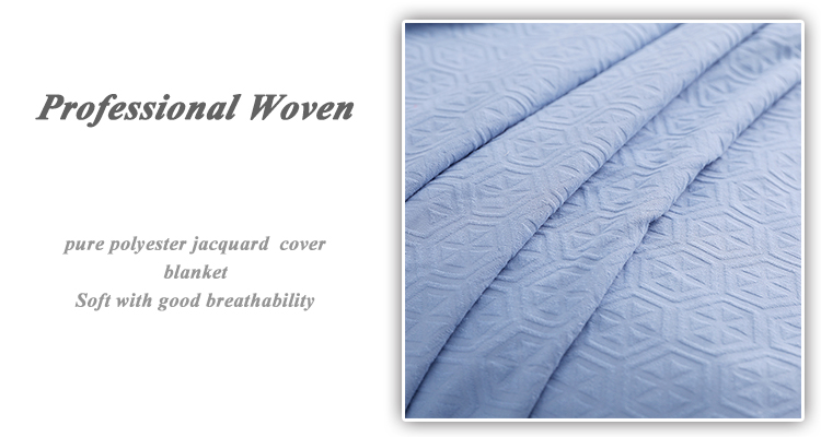 Hot sale one layer 100% cotton jacquard 3d hotel bedding set dubai blanket