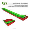 High quality red wooden automatic ball return indoor training golf putting mat