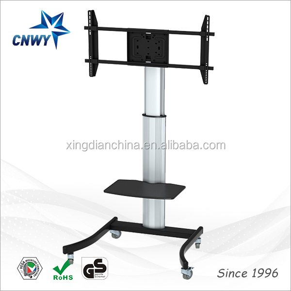Hot sell cheap conference system mobile TV stand manufacturers tv sex xxx stand with wheels