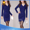 New design women dress v - neck Eco - Friendly long sleeve bodycon tunic sexy dress