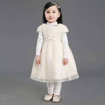 Stock Supply! Hot selling warm polar fleece winter children dresses for baby 1-4y