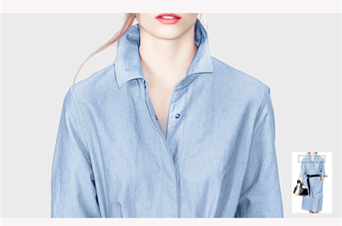 Fashion Lapel blouse fashion design with waist blouse fashion design