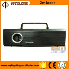 high quality 2W full color rgb SD card laser light show system