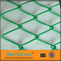 PVC Coated Galvanized Mini Diamond Brand Chain Link Wire Mesh 4ft 5ft 6ft