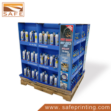supermarket paper display stand custom corrugated pallet display