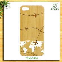 "2013 new product wood for iphone 5"" original case with custom world map design"