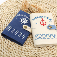Languo canvas navy style name cardholder