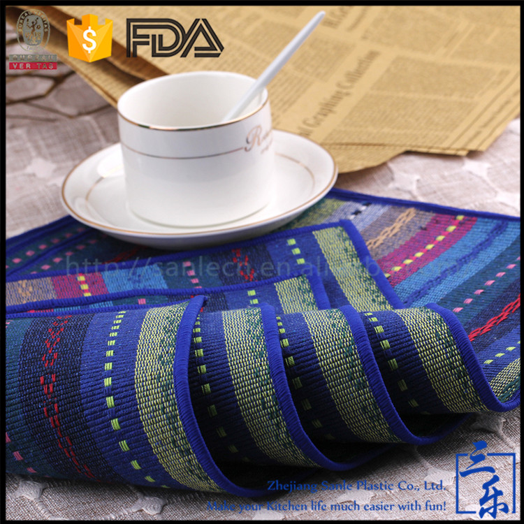 Factory Price Cheap Wipe To Clean 100% Cotton And Linen Commercial Placemat