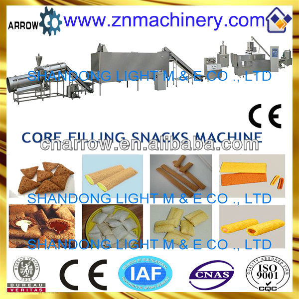 Competitive Automatic Roasted Jam Center Puffed Extruded Corn Pellet Snack Food Machine