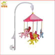 Colourful baby musical mobile handing plush toy baby crib bell