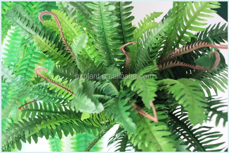 Artificial fern plants with Class A fire protective