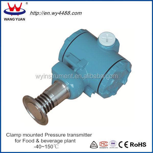 WP435C flat diaphragm pressure sensors with display