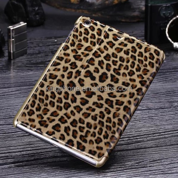 China supplier leopard pettern leather case for ipad mini cover