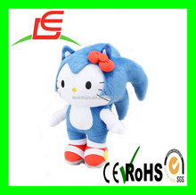 wholesales plush Sonic Hello Kitty with red hair band