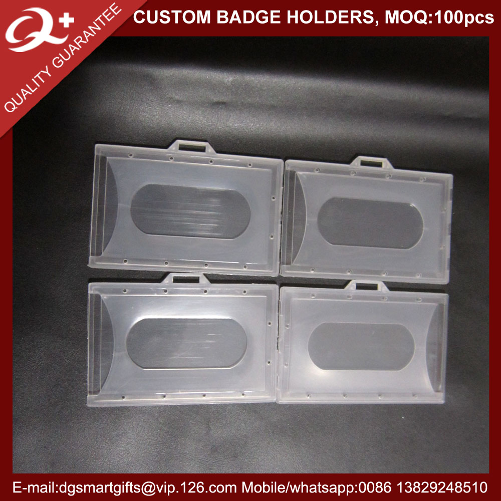 Low MOQ vertical badge id card holder for ID