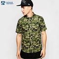 wholesale camo print short sleeve custom printed hawaiian shirt