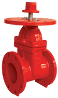 FM UL Approved 200PSI NRS Type Flanged End Gate Valve With Round Plate
