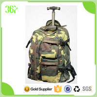 New Design Camouflage Colour Man Outdoor Luggage Trolley Travel Bag Wholesale
