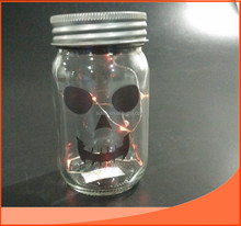 16oz machine made glass honey jar / mason jar with metal lid and shining wire