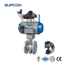 SUPCON Valve Normal Temperature Metal-seal V-notch Pneumatic Ball Valve