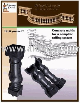 concrete molds for balusters and railing