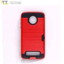 Shockproof tpu pc armor bumper cell phone case cover for motorola moto z play