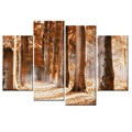 Nature Landscape Forest Pictures Canvas Wall Art 4 Panel Wall Decor Wholesale
