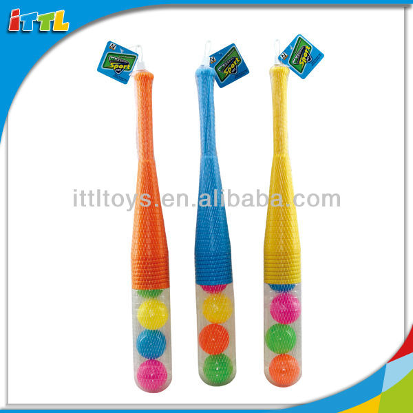 A524973 Sport Toys 24 Inches Baseball Plastic Colorful Baseball Bat