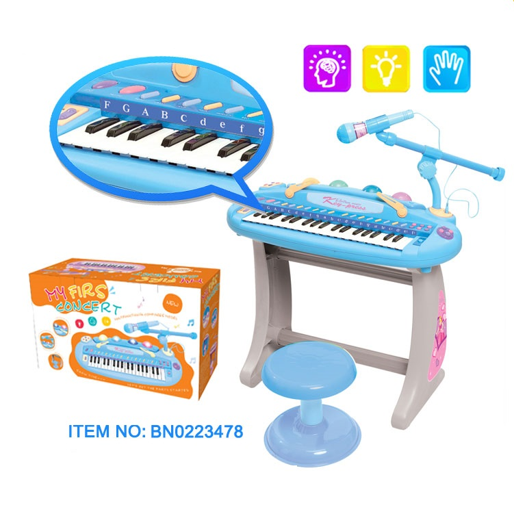 musical instrument toys kids electronic organ with microphone