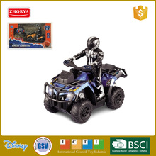 Zhorya RC 4 wheels motorbike BO car 1:10 4ch scrambling RC motorcycle ATV remote control motorbike