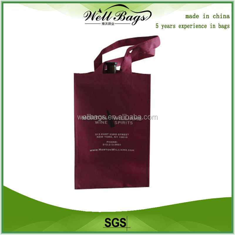100% Recycled mini Bottles Wine Bag, promotion bag, handbags
