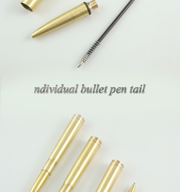 factory wholesale metal brass bullet shape pen