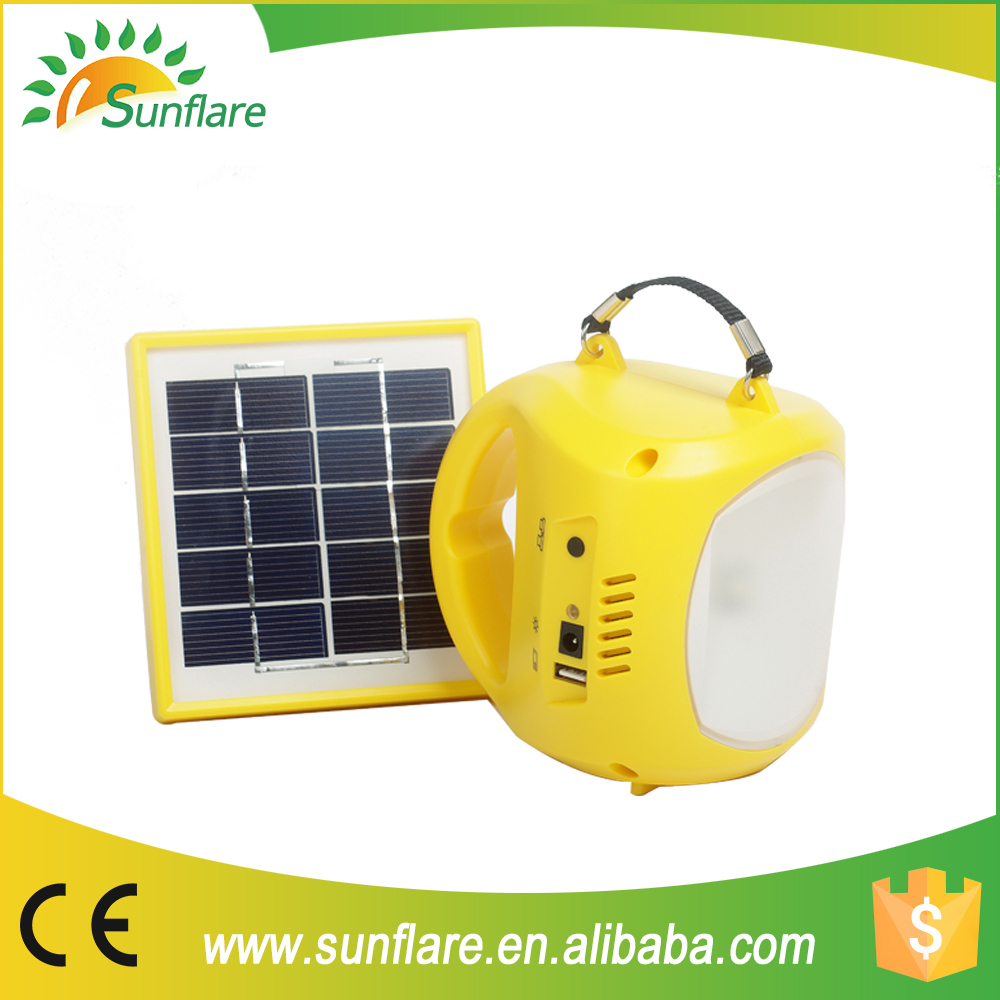 solar rechargeable LED lantern with mobile phone charger with low price