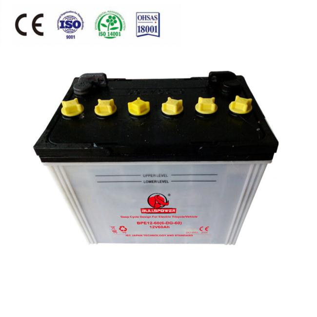 12v60Ah stable lead acid battery deep cycle with Super Long Mileage