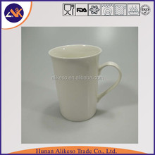Cheap bulk 350ml new bone china plain white ceramic coffee/tea mug with handle